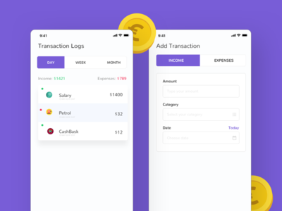 Money Manager UI App