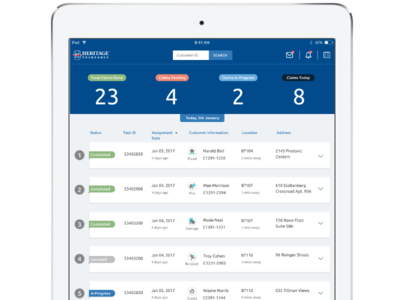 iPad App for Insurance Agents