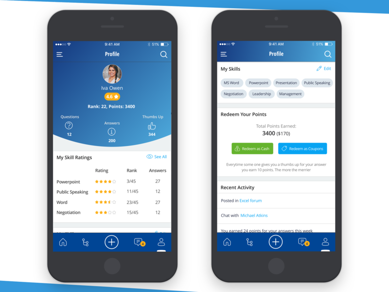 Sketch Freebie - Profile Screen activity ratings earned points skills employee ui ux profile