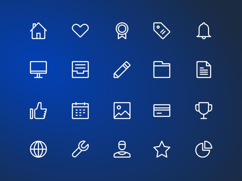 Basic Icons - Sketch Freebie illustration like chart calendar image files alerts settings home app icons