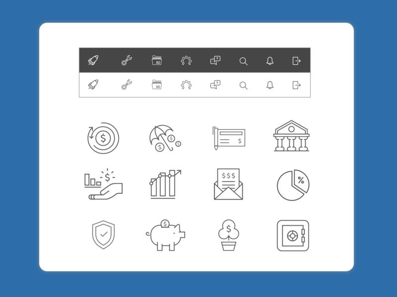 Icons Freebie sketch app generic finance financial vector icons sketch
