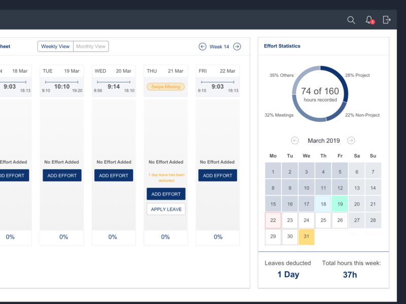 Leave Management ecommerce absence leave dashboard app source design ui activity stats statistics effort