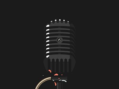 Style frame - Premium Beat 2d flat microphone design bootcamp premium beat high contrast music design animation illustration photoshop style frame