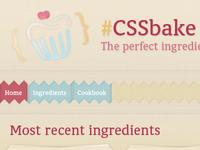 CSSbake - header