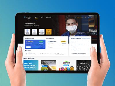 Espace Client Web - Insurance Company web design product design design ux ui