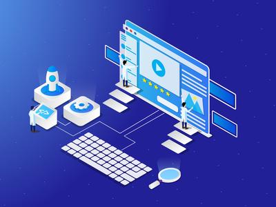 Web Developement Isometric