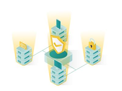 Data Security Isometric Illustration 06