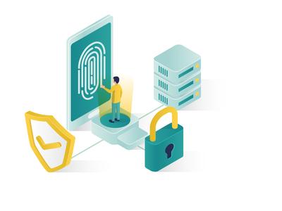 Data Security Isometric Illustration