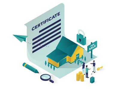 buying a house with certificate Isometric Illustration people 3d graphic searching professional man business amazing vector good landing page website isometric design illustration for sale rent buy estate real
