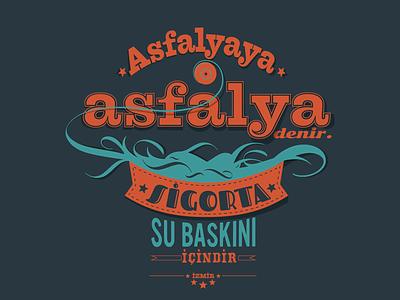 Asfalya typography izmir tee shirt tshirt t-shirt typo
