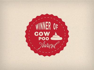 Award Winning badge award typography