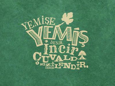Yemis V.S. Incir typo typography tee tshirt t-shirt shirt izmir