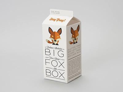 Fox Box graphic design packaging branding fox joke humour