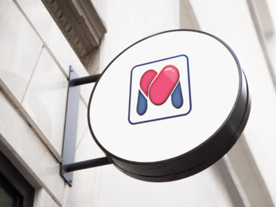 M + Heart + Pill Monogram