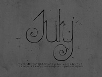 Letraspace July by Dawnland