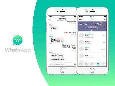 The New WhatsApp groups messenger mentions ios icon banding rebrand ui facebook whatsapp
