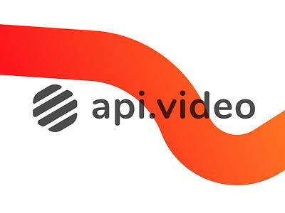 Introducing api.video streaming netflix youtube video ux ui website design gradient logo api.video