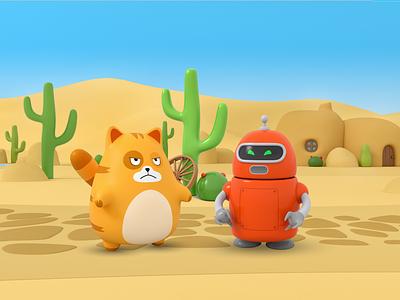 Cats vs Robots Game dessert game design game art game paladin-engineering