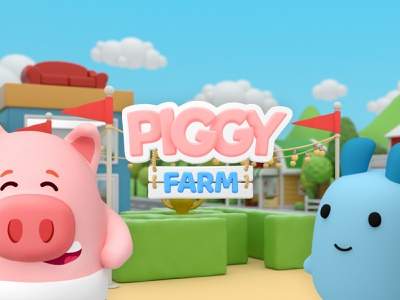 Piggy Farm Game android ios illustration game design game art game paladin-engineering
