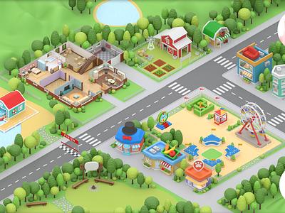 Piggy Farm Game gaming meta map map game design game art android ios game paladin-engineering