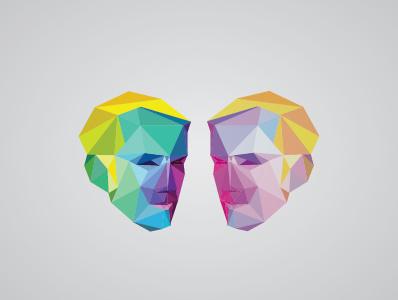 Van Valen Сubism illustration triangulation art poligon paladin-engineering