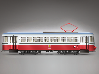 Tram icon tram tramway tramline tramcar illustration street railway paladin-engineering