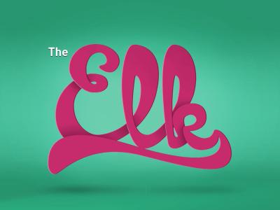 The Elk logo lettering game turquoise iphone purple ios cardinal type motton typography ribbon paladin-engineering