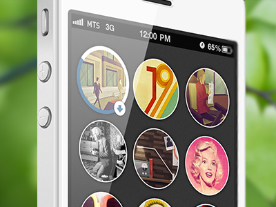 Vk Photo app round ios circle android interface vkontakte albums iphone ui