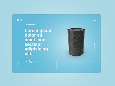 Alfa | Clean & Minimal Template website webdesign ux ui design