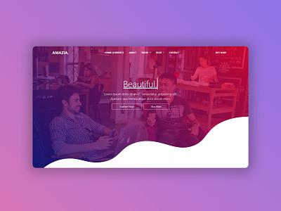 Amazia theme landing template theme design ui ux psd webdesign