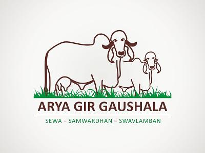 Arya Gir Gaushala Logo branding logo