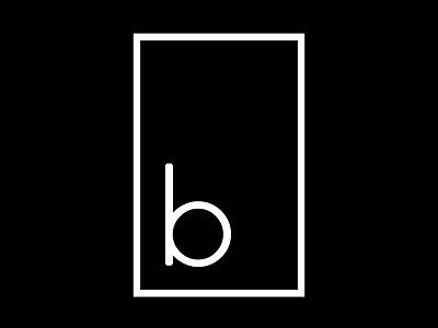 b in window minimal typography text