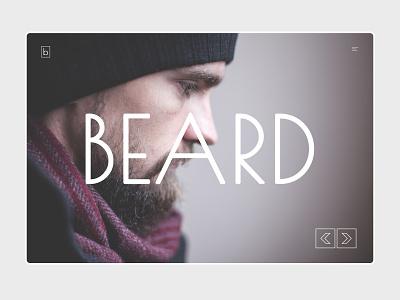 Beard design ux ui psd template web