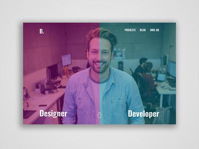 Portfolio Concept webdesign webtemplate website portfolio ux ui psd design
