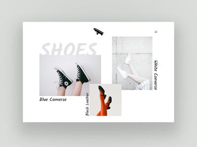 Shoes website webdesign ux ui psd design