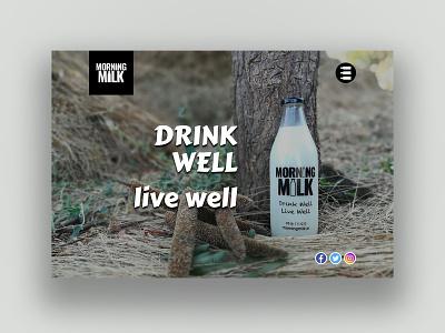 Morning Milk typography branding website webdesign ux ui logo psd design