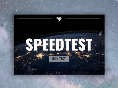 Speedtest minimal typography website webdesign ux ui psd logo design