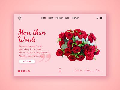 PP Flowers flower illustration photoshop art portfolio minimal branding typography website webdesign ux ui psd logo design