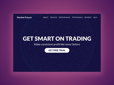 Market Future investment trading stockmarket minimal branding typography website webdesign ux ui psd design