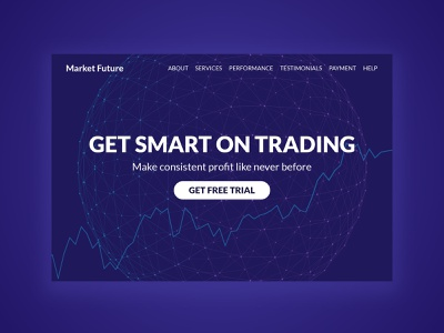 Marketfuture V2 stockmarket investment trading branding minimal typography website webdesign logo ux ui psd design