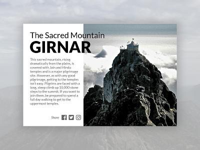 Girnar gujarat junagadh girnar tourism photoshop portfolio minimal branding typography website webdesign logo ux ui psd design
