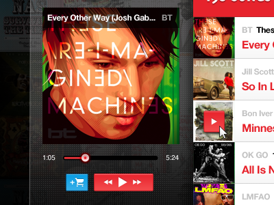 Dribbble weget musicplayer