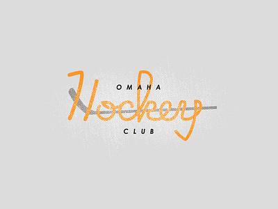 Omaha Youth Hockey Club Logo  logo omaha hockey hand type orange