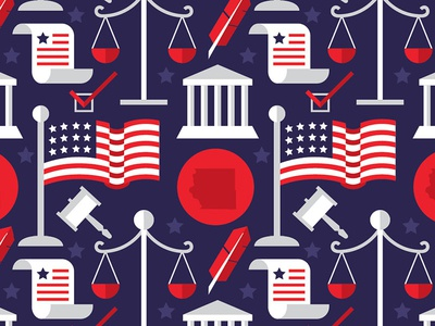 County Attorney Election pattern election law attorney red white blue