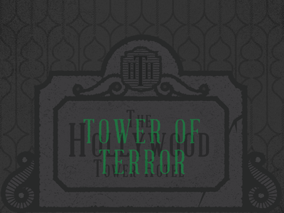 Tower of Terror tower of terror disney world disneyland grunge gray halloween