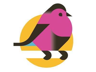 A bird print illustration vector animal bird minimal