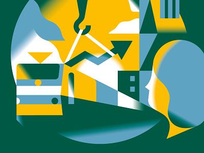 Schlaglichter Magazine Cover title cover magazine print editorial vector illustration economy