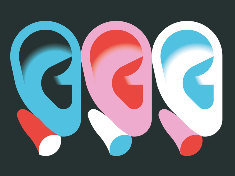 Shh! vektorgrafik vector illustration ear noise earplugs