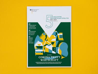 Schlaglichter Magazine Cover Printed vektorgrafik vector editorial illustration print cover magazine