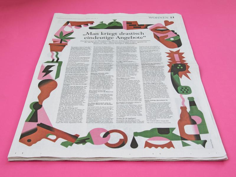 Property manager interview frame illustration print management property housing vektorgrafik vector illustration editorial art editorial